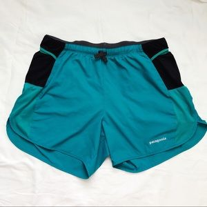 Patagonia Pro Strider Running Shorts Teal Size Med
